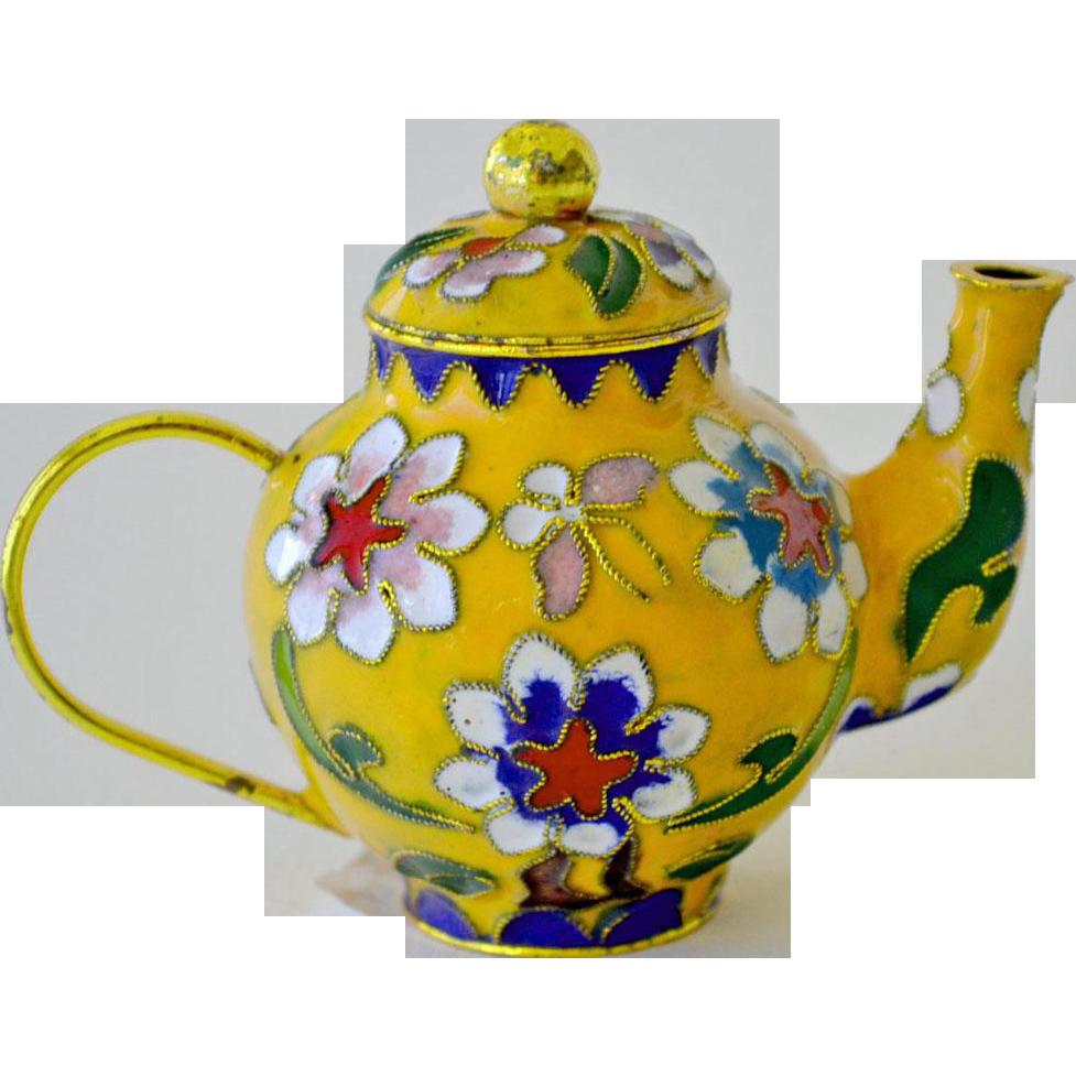 Teapot Miniature Enamel