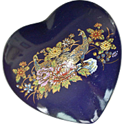 Heart Trinket Vanity Box Cobalt blue