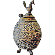 Bronze Lidded Jar or Bottle Asian