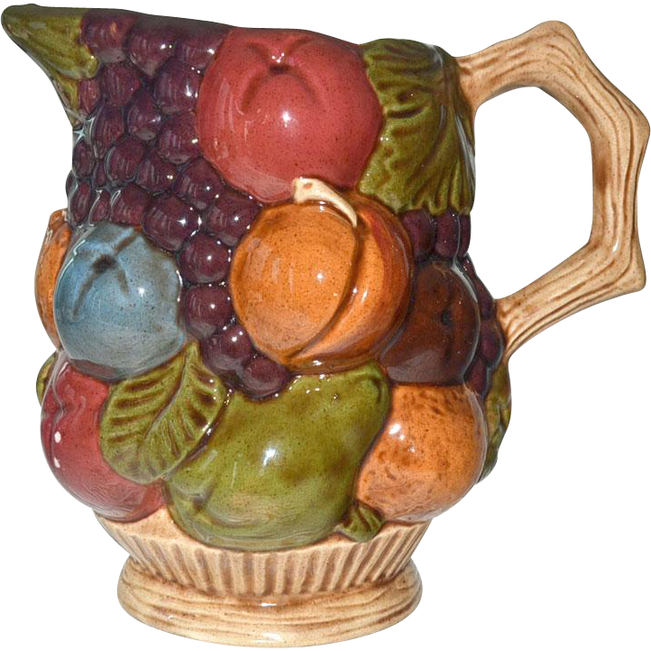 Pitcher Raised Fruit Ceramic