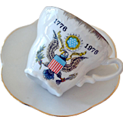 Porcelain Cup and Saucer 1976 Bicentennial