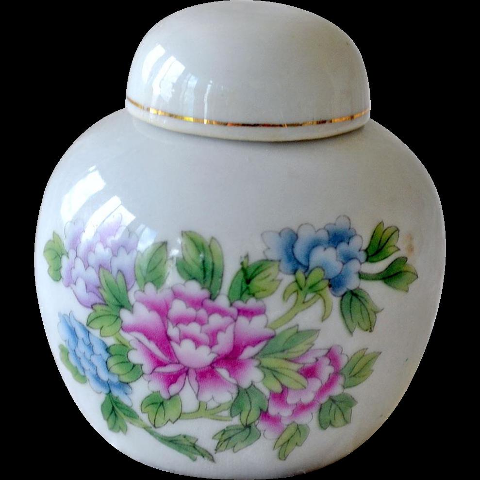Chinese Miniature Lidded Vintage Jar