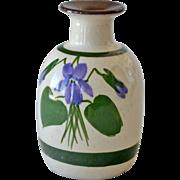 Torquay Vase or Scent Bottle Pottery Devonshire Violets