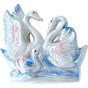Vintage Swan Family Opalescent