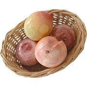 Stone Fruit Basket Four Pieces