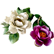 Porcelain Sculpted Roses Italy