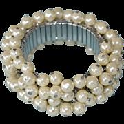 Faux Pearl Expansion Cha Cha Bracelet