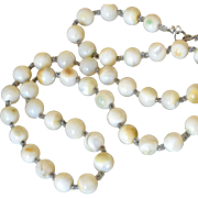 Necklace Beads Natural Color Mother of Pearl