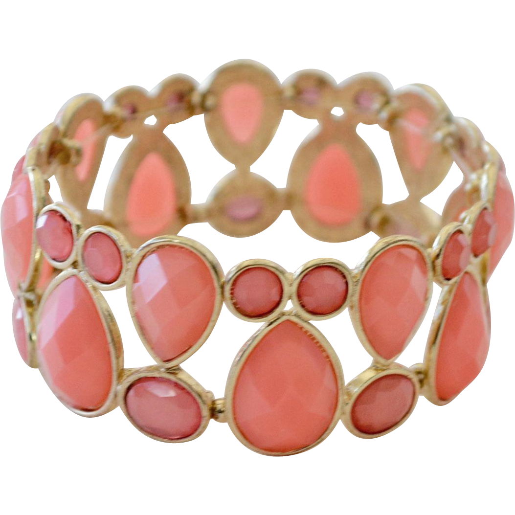 Bracelet Coral Color Stretch