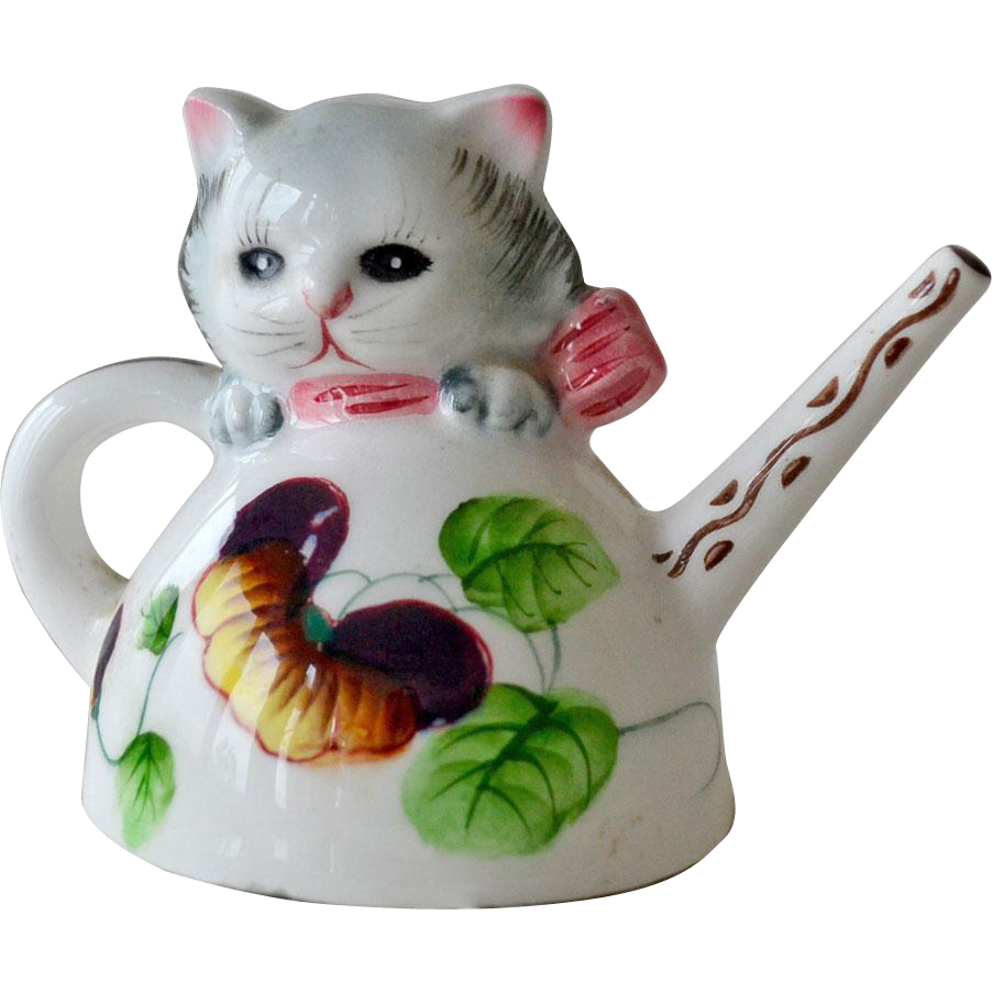 Vintage Cat Teapot Shaker Japan