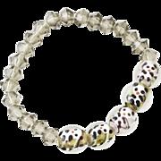 Bracelet Panda Bear Art Glass Beads