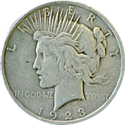 Silver Dollar Peace 1923