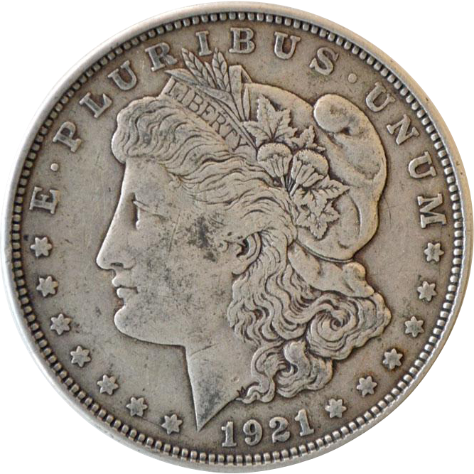 Silver Dollar Morgan 1921