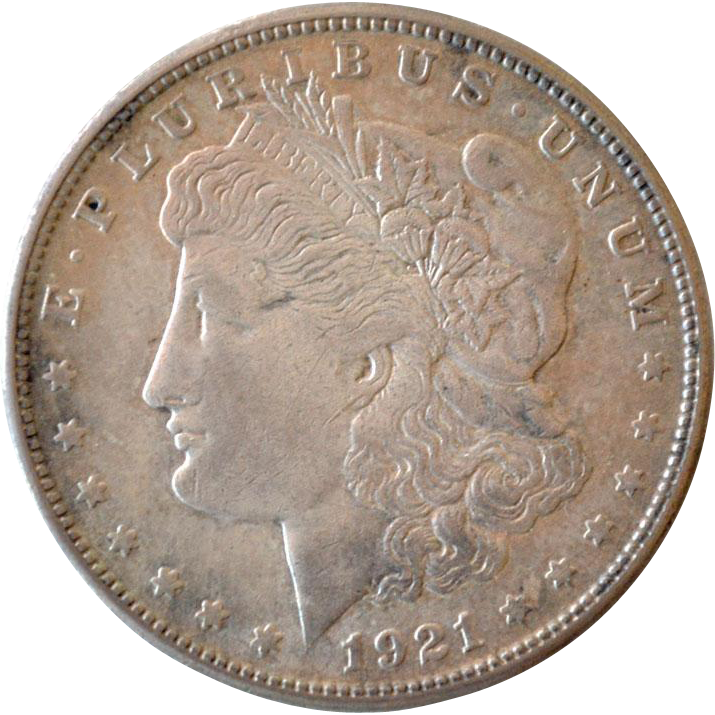 Silver Dollar Morgan 1921 S