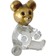 Miniature Bear Figurine Glass