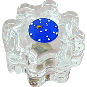 Lead Crystal Trinket Box Moon and Stars