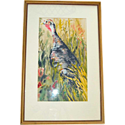 Wild Turkey The Hunted Watercolor Painting Sheppard