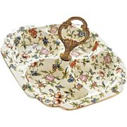 Moriyama Chintz Porcelain Serving or Candy Dish