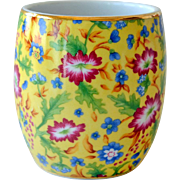Vase Yellow Chintz Porcelain