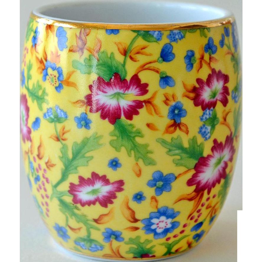 Vase Yellow Chintz Porcelain