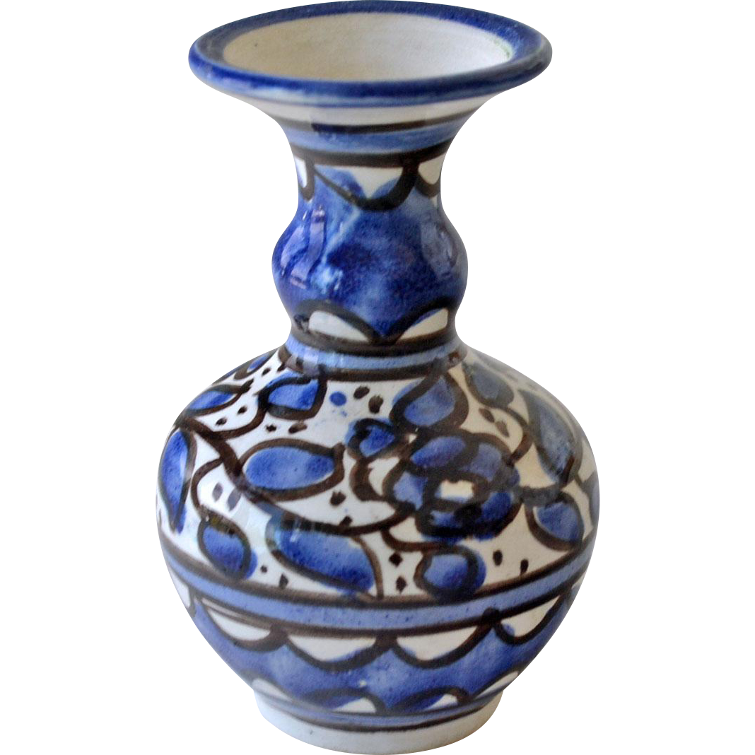 Miniature Blue and White Vase