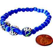 Bracelet with Art Glass Panda Beads
