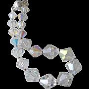 Bracelet AB Crystal Bicone Beads