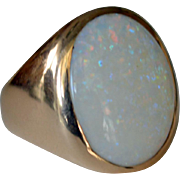 Massive Opal Ring 14K 13.7 Grams