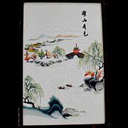 Embroidery on Silk Oriental
