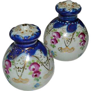 Salt and Pepper Shakers Hand Painted Roses