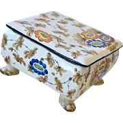 Porcelain Box Hand Painted Faenza Calf