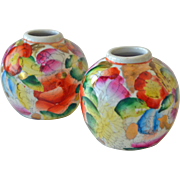 Miniature Chinese Vases Set of Two