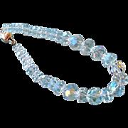 Bracelet Quartz Rock Crystal Faceted Beads