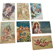 Seven Christmas Angel Postcards