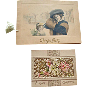 Two Christmas Greeting Cards Tuck and Hagelberg