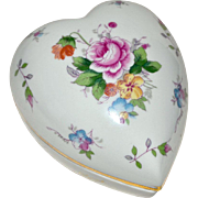 Porcelain Heart Box with Roses