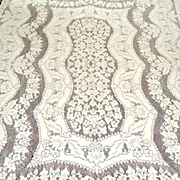 Cotton Lace Tablecloth 62 by 98 Inches