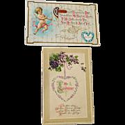 Two Valentine Postcards Winsch Wessler
