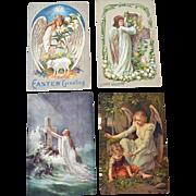 Postcards Four Easter Angels Tuck Schutzengel