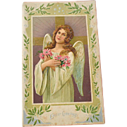 Large Embossed Easter Angel Card