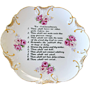 Decorative Plate Ten Commandments