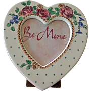 Heart Porcelain Frame with Roses