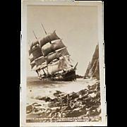 Postcard Historic Shipwreck Gleneslim RPPC
