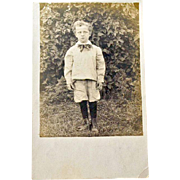 RPPC Boy Unusual Eyes Knickers