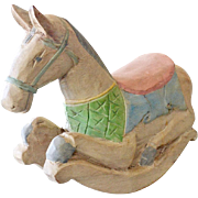 Wood Rocking Horse Figurine