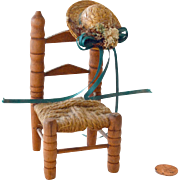 Doll Toy Chair with Straw Hat