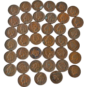 Indian Head Pennies 39 In All