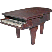 Wood Baby Grand Piano for Dollhouse