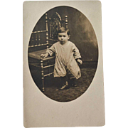 RPPC Baby Boy Ornate Chair
