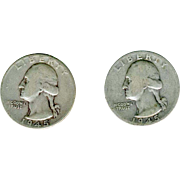 Two Silver Quarters 1945P
